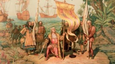Christopher Columbus sailed the ocean blue when?