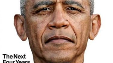 While most publications went for a celebratory shot, Bloomberg BusinessWeek photoshopped an image forecasting the toll the next four years might take on Obama.