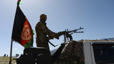 A member of the Afghan security forces.
