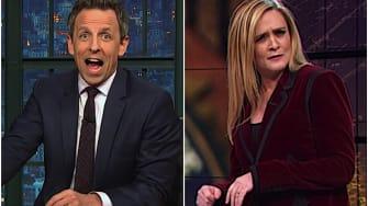 "Seth Meyers and Samantha Bee celebrate ""Mueller Christmas"""