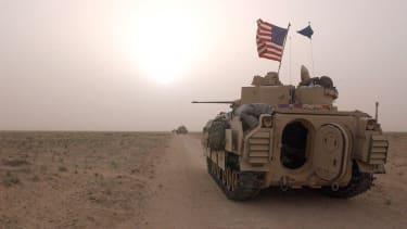 U.S. military vehicles in Kuwait.