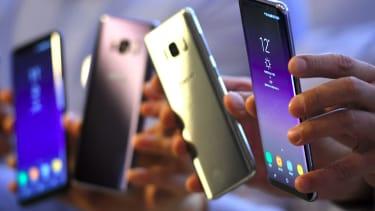 Samsung Galaxy S8 smartphones.