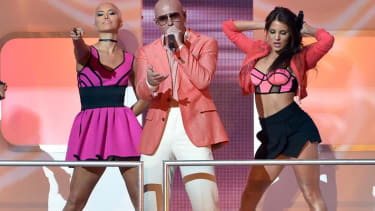 Pitbull's World Cup music video features whistles, Jennifer Lopez, and a giant inflatable soccer ball