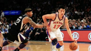 """New York Knicks sensation Jeremy Lin has appeared on eight consecutive front or back covers of the New York Post, typically with a punny headline like """"Lincredible!"""""""