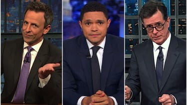 Late-night comedians weigh in on Trump losing $1 billion