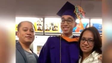 Jerich Marco Alcantara and his parents.