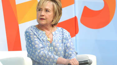 Hillary Clinton at Ozy Fest.