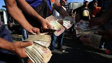 Venezuela money crisis.