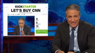 Jon Stewart launches a Kickstarter to buy CNN from Rupert Murdoch