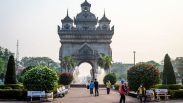 The Patuxai war monument in Vientiane.