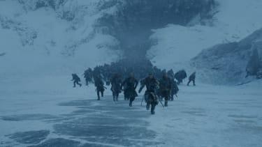 Jon Snow and friends battle on the ice.