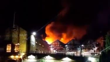 The fire at Camden Market.