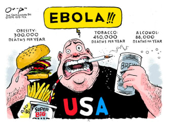 Editorial cartoon U.S. Ebola health