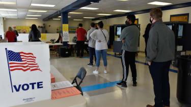 Senate runoff voting in Georgia.