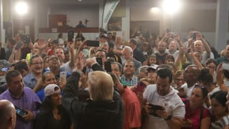 President Trump visits Puerto Rico.