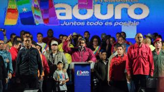 President Nicolas Maduro declares victory in Venezuela