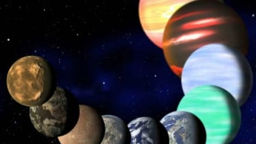 An artist rendering of the different types of planets in our Milky Way as determined by NASA's Kepler spacecraft.