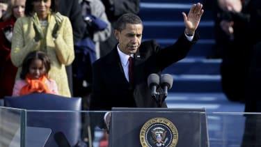 Former President Barack Obama at his 2009 inauguration.