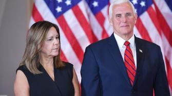 Mike Pence and Karen Pence.