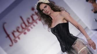 A model at the Frederick's of Hollywood fashion show.