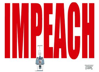 Political Cartoon U.S. biden impeachment