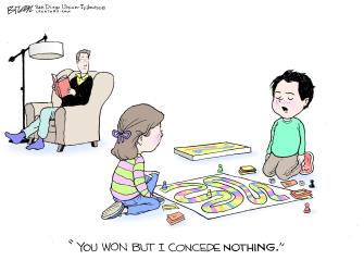 Editorial Cartoon U.S. Trump concede loss