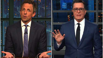 Seth Meyers, Stephen Colbert on the Collins indictment