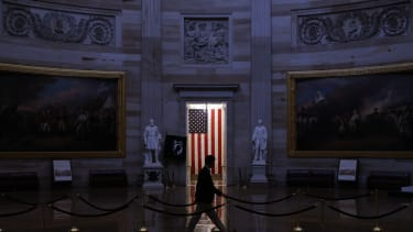 A man in the U.S. Capitol