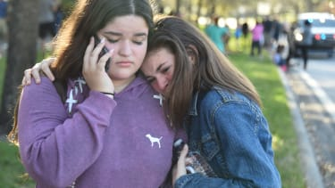 The aftermath of the Parkland school shooting.