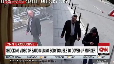 Turkish footage appears to show Khashoggi body double