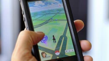 Pokemon Go on an iPhone