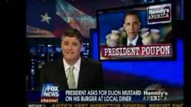 Sean Hannity criticizing Barack Obama.