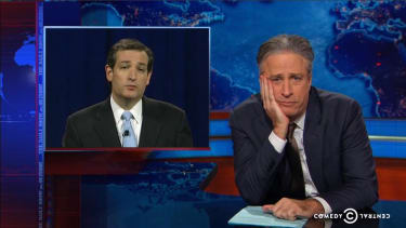 Jon Stewart notes a little hypocrisy in the GOP backing private land seizure for the Keystone XL pipeline