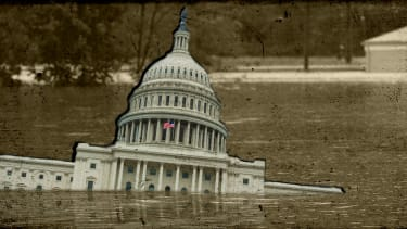 Capitol sinking in midwest flooding.
