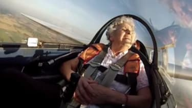 Watch this centenarian celebrate her birthday with a loop-the-loop plane stunt