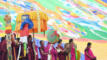 A Buddhist festival at Labrang Monastery in Xiahe, Tibet.