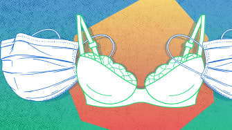 A bra and masks.