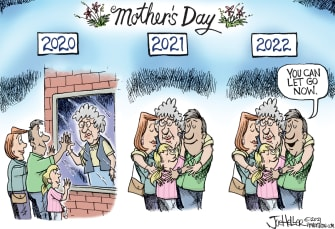 Editorial Cartoon U.S. covid mothers day