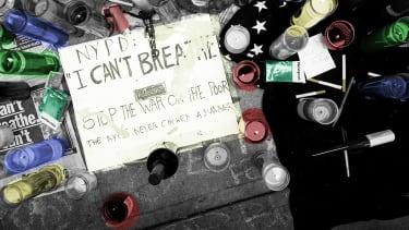 An Eric Garner memorial.