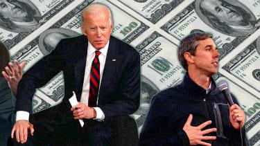 Joe Biden, Kamala Harris, and Beto ORourke.