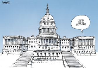 Political Cartoon U.S. Senate Trump Impeachment Attempt