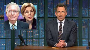 Seth Meyers advises the Democrats to follow Elizabeth Warren