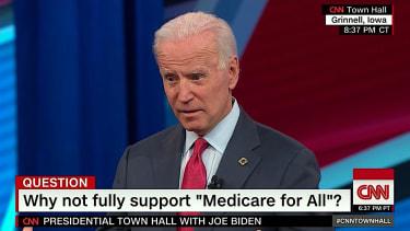 Joe Biden attacks Elizabeth Warren on CNN