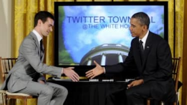 President Obama sits down with Twitter co-founder Jack Dorsey
