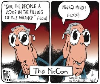 Political Cartoon U.S. McConnell Ginsburg SCOTUS