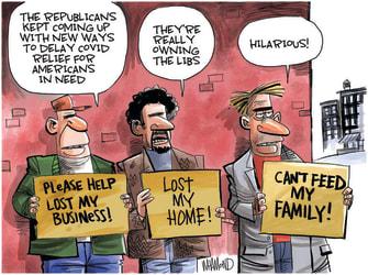 Editorial Cartoon U.S. covid stimulus gop liberals