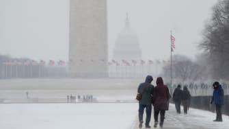 Snow in Washington D.C.