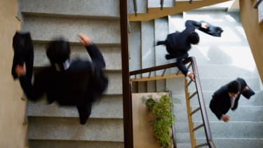 Businessman stairs