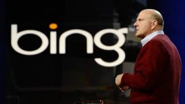 Microsoft CEO Steve Ballmer discussing Bing