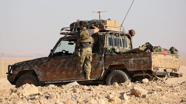 Western special forces near Raqqa, Syria